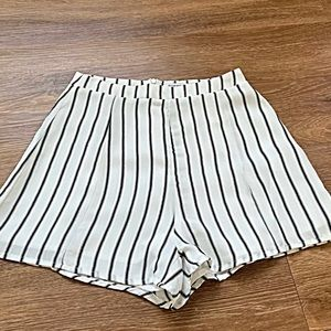Stripe Shorts Black and White Shorts